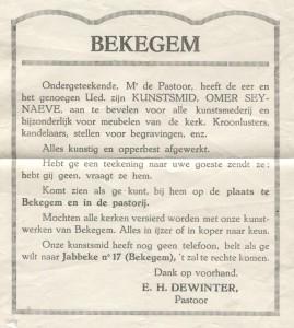 Dewinter advert